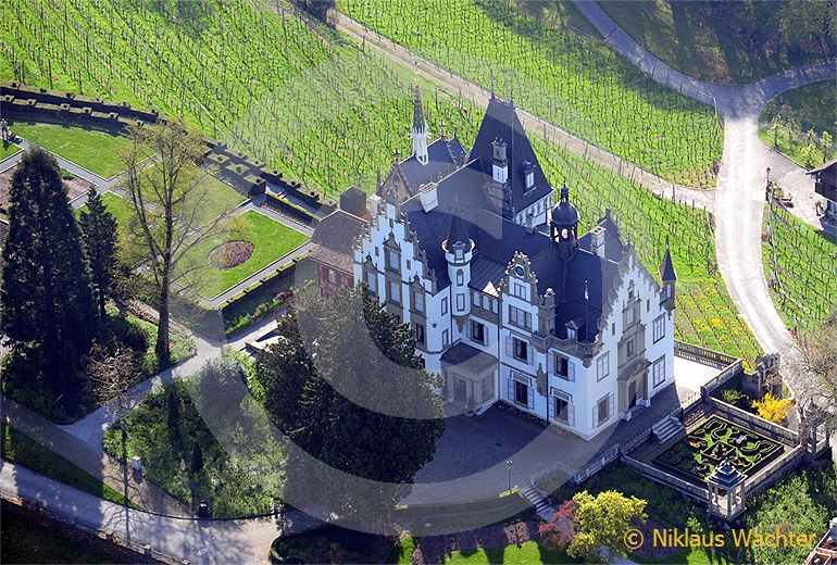 Foto: Das  Schloss  Meggenhorn  in  Meggen  LU  im  Morgenlicht. (Luftaufnahme von Niklaus Wächter)