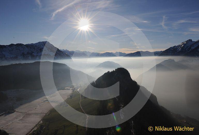 Foto: Ueber dem Buergenstock  bei Stans NW. (Luftaufnahme von Niklaus Wächter)