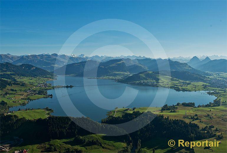 Foto: Der  Sihlsee.. (Luftaufnahme von Niklaus Wächter)