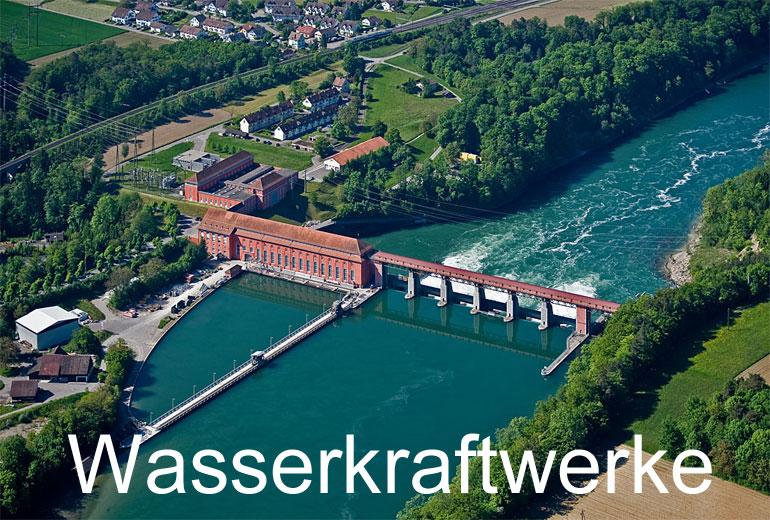 Foto: WASSERKRAFTWERKE. (Luftaufnahme von Niklaus Wächter)