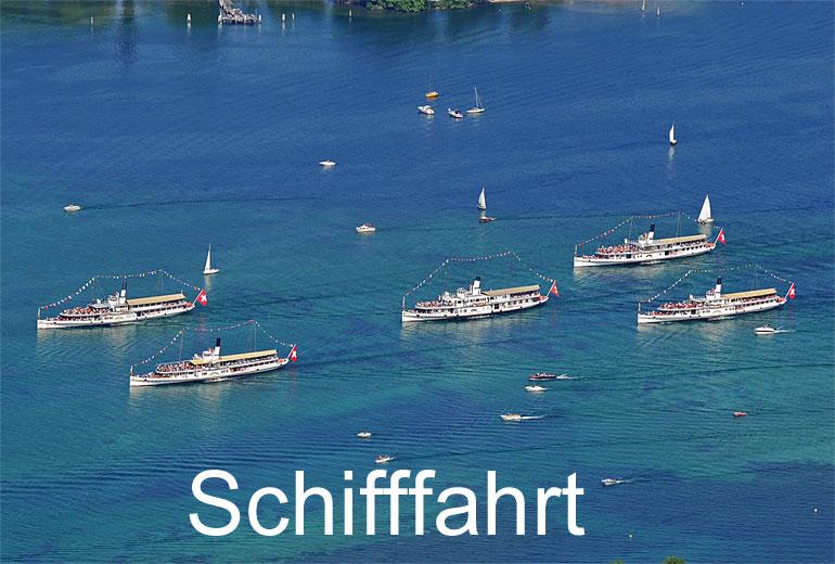 Foto: SCHIFFFAHRT. (Luftaufnahme von Niklaus Wächter)