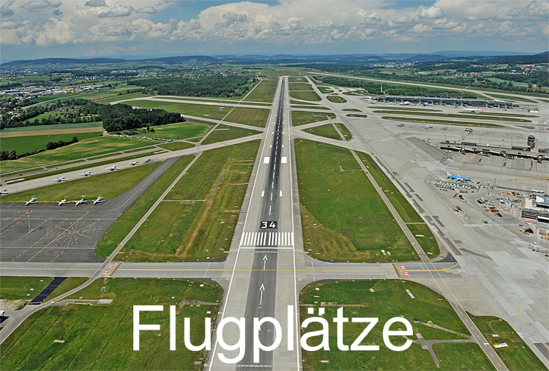Foto: FLUGPLAETZE. (Luftaufnahme von Niklaus Wächter)