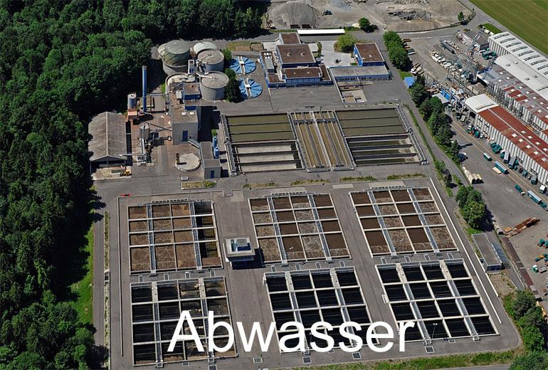 Foto: ABWASSER. (Luftaufnahme von Niklaus Wächter)