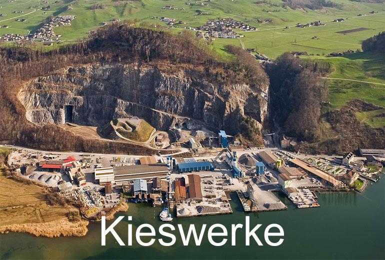 Foto: KIESWERKE. (Luftaufnahme von Niklaus Wächter)