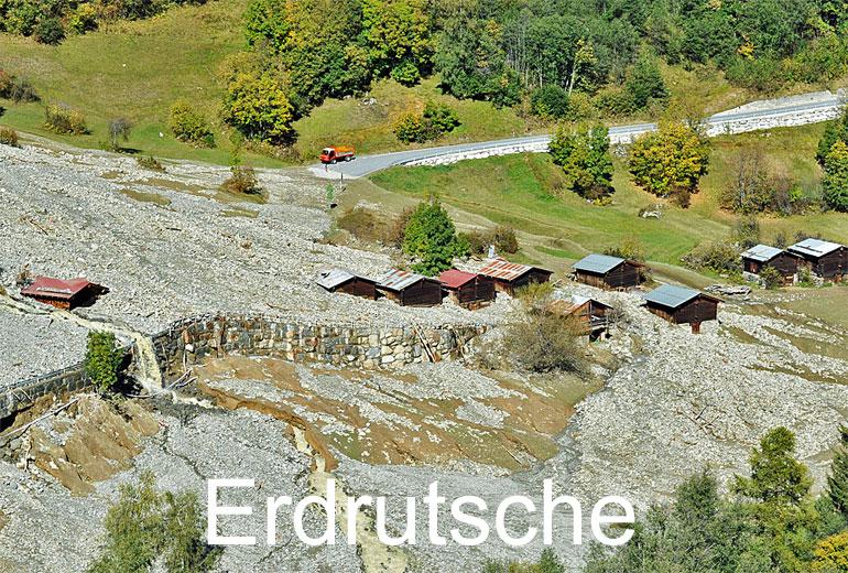 Foto: ERDRUTSCHE. (Luftaufnahme von Niklaus Wächter)
