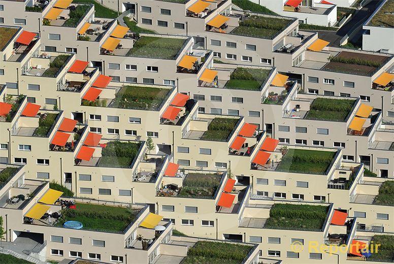 Foto: Terrassenhäuser.. (Luftaufnahme von Niklaus Wächter)