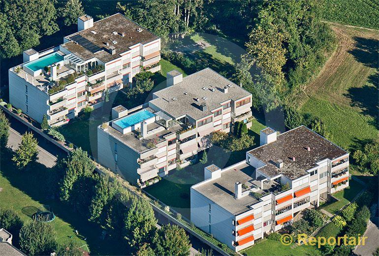 Foto: Wohnblocks bei Biel. (Luftaufnahme von Niklaus Wächter)