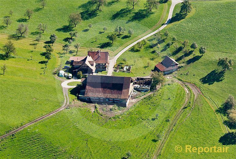 Foto: Bauernhof in der Zentralschweiz.. (Luftaufnahme von Niklaus Wächter)