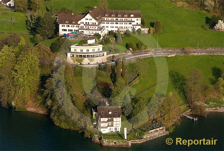 Foto: Das Hotel Floralpina in Vitznau LU.. (Luftaufnahme von Niklaus Wächter)