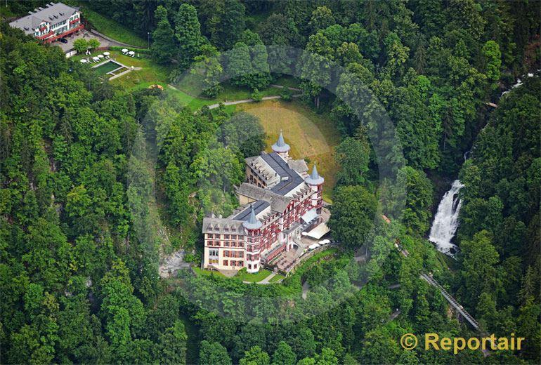 Foto: Das Grandhotel Giessbach in Brienz BE. (Luftaufnahme von Niklaus Wächter)