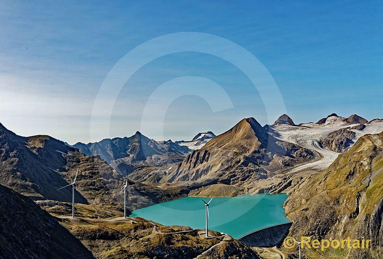 Foto: Der Griessee beim Nufenenpass . (Luftaufnahme von Niklaus Wächter)