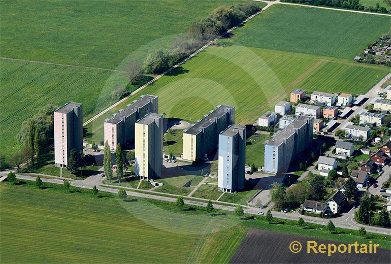 Foto: Die Wohnsiedlung Sonnenpark in Solothurn. (Luftaufnahme von Niklaus Wächter)