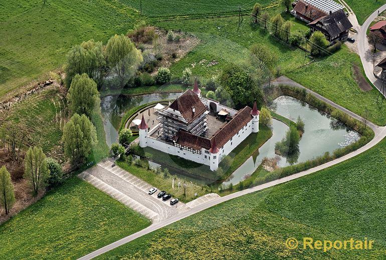 Foto: Das Wasserschloss Wyher bei Ettiswil LU. (Luftaufnahme von Niklaus Wächter)