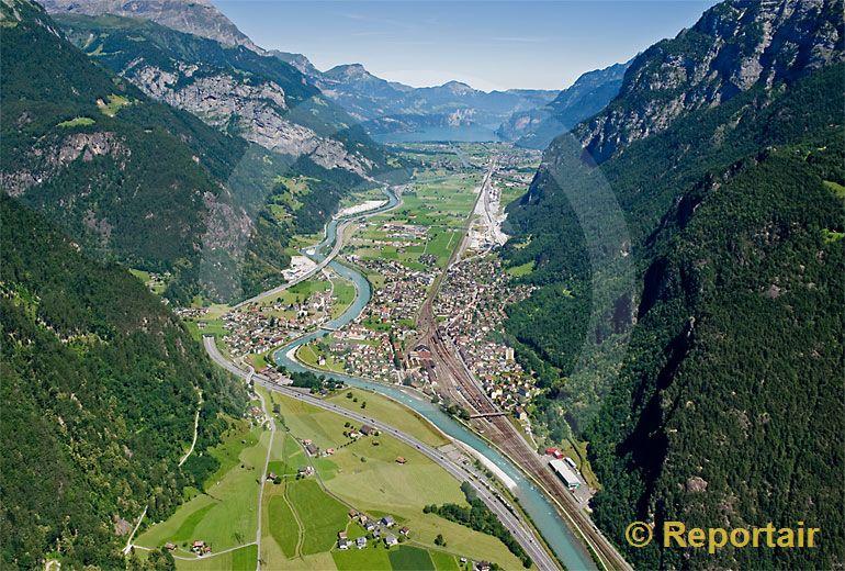 Foto: Erstfeld UR. (Luftaufnahme von Niklaus Wächter)