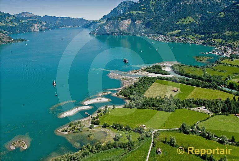 Foto: Urnersee bei Erstfeld UR. (Luftaufnahme von Niklaus Wächter)