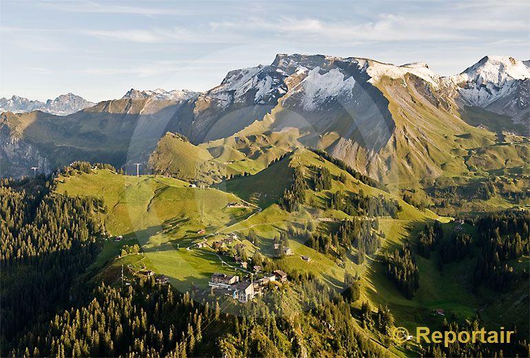 Foto: Die Klewenalp ob Beckenried am Vierwaldstättersee. (Luftaufnahme von Niklaus Wächter)