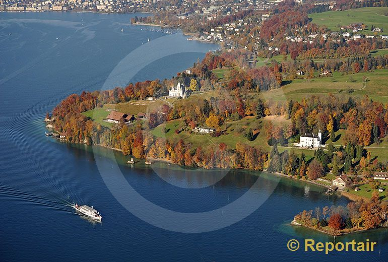 Foto: Meggenhorn bei Luzern. (Luftaufnahme von Niklaus Wächter)