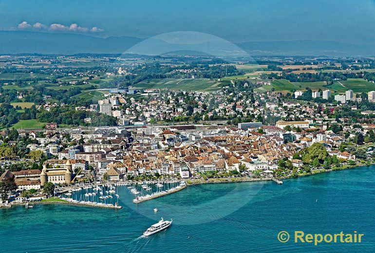 Foto: Morges am Genfersee. (Luftaufnahme von Niklaus Wächter)