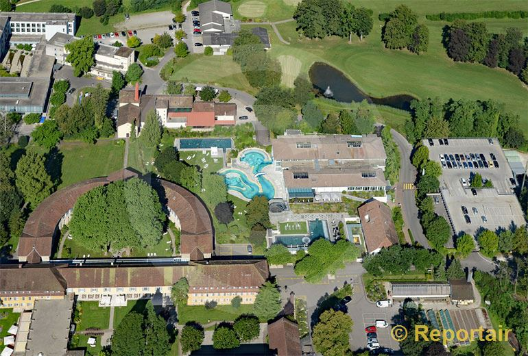 Foto: Thermalbad und Kurhotel Schinznach-Bad AG. (Luftaufnahme von Niklaus Wächter)