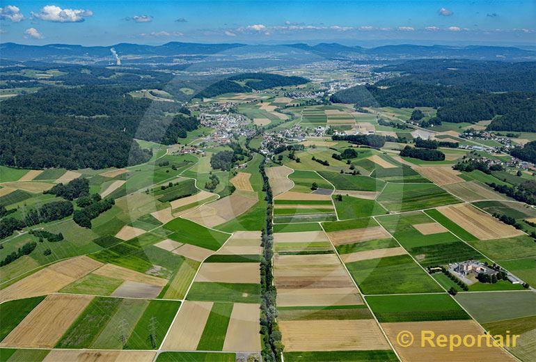 Foto: Das Suhrental Richtung Norden. (Luftaufnahme von Niklaus Wächter)
