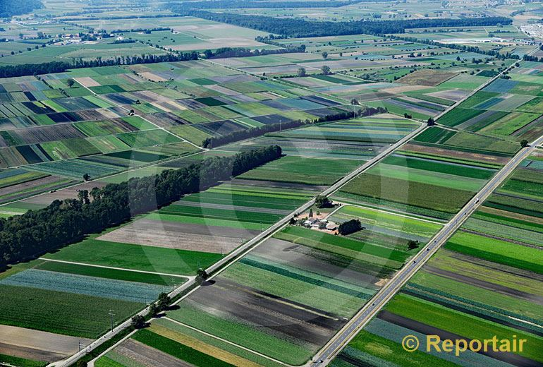 Foto: Optische Täuschung über dem Grossen Moos bei Kerzers FR. (Luftaufnahme von Niklaus Wächter)