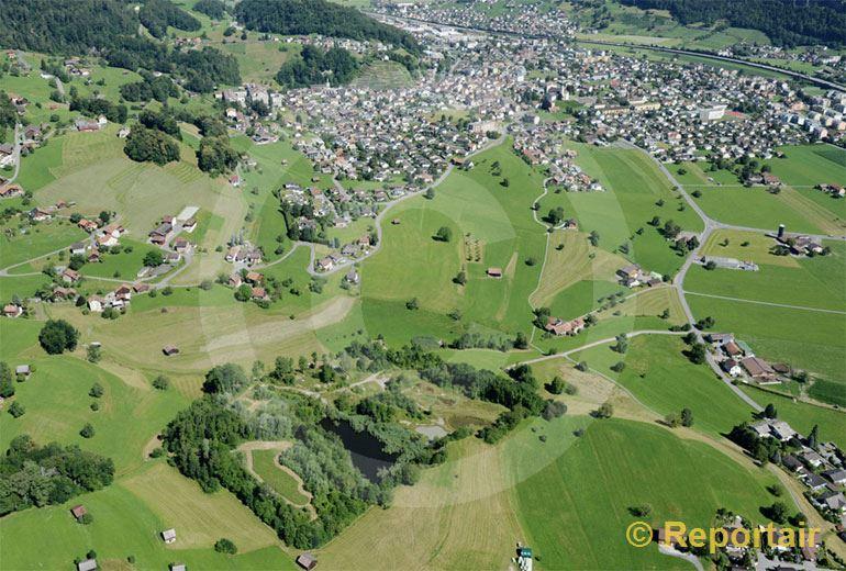 Foto: Ein Flecken Natur vor Mels SG. (Luftaufnahme von Niklaus Wächter)