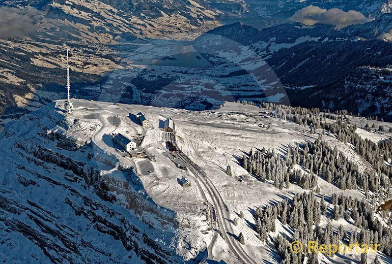 Foto: Rigi-Kulm im Winter. (Luftaufnahme von Niklaus Wächter)