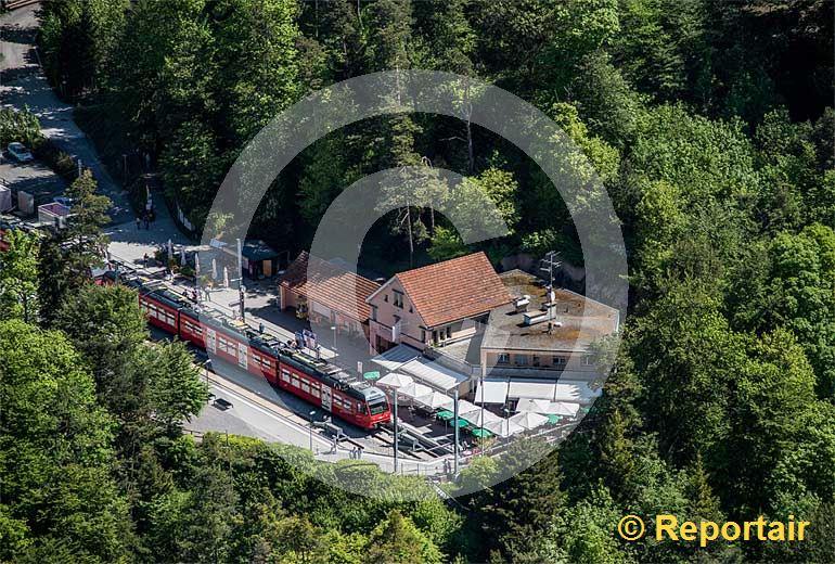 Foto: Endstation Uetliberg. (Luftaufnahme von Niklaus Wächter)