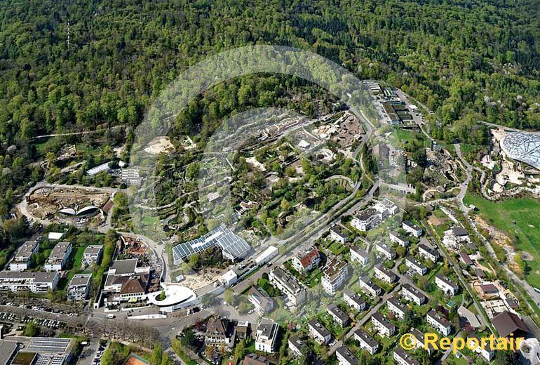 Foto: Der Zoo Zuerich am Zürichberg liegt zwischen Wald und Wohngebiet. (Luftaufnahme von Niklaus Wächter)