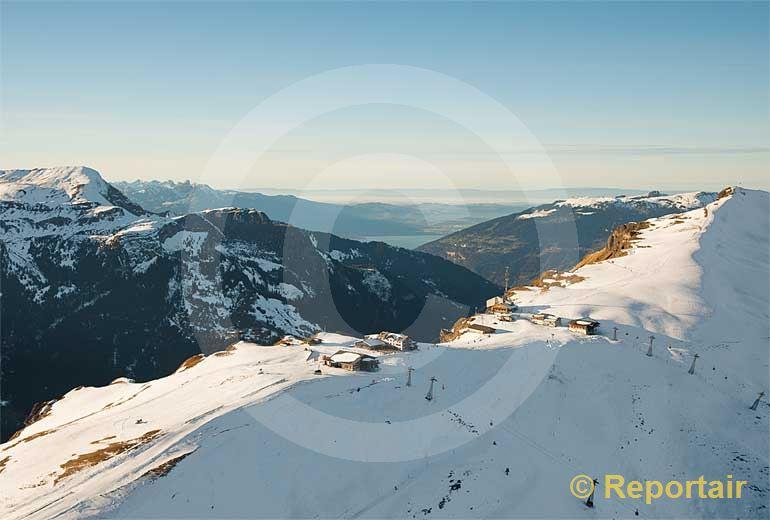 Foto: Der Männlichengrat zwischen Grindelwald und Lauterbrunnen BE. (Luftaufnahme von Niklaus Wächter)