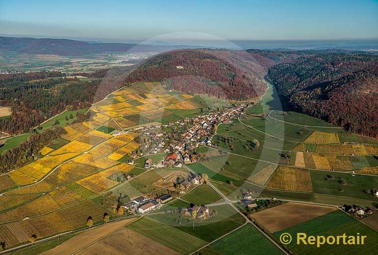 Foto: Herbstfarben in Osterfingen SH . (Luftaufnahme von Niklaus Wächter)
