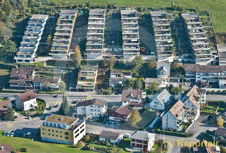 Foto: Wohnkultur in Neuheim (ZG). (Luftaufnahme von Niklaus Wächter)
