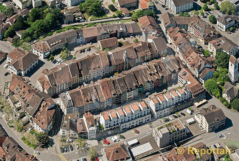 Foto: Die Altstadt von Lenzburg (AG). (Luftaufnahme von Niklaus Wächter)