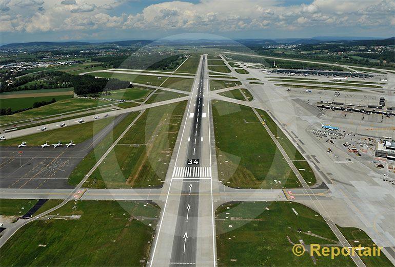 Foto: Flugplatz Zürich. (Luftaufnahme von Niklaus Wächter)