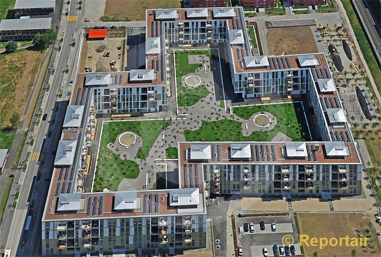 Foto: Wohnüberbauung Klee in Affoltern ZH. (Luftaufnahme von Niklaus Wächter)