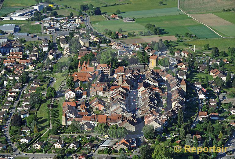 Foto: Avenches VD. (Luftaufnahme von Niklaus Wächter)