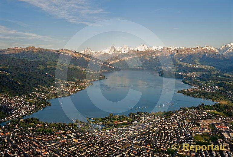 Foto: Thunersee BE. (Luftaufnahme von Niklaus Wächter)