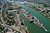 Foto 355: Basel Rheinhafen mit dem Dreiländereck.