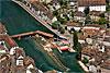Foto 467: Das Reusswehr in Luzern wird saniert.