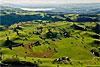 Foto 301: Eine sogenannte Moränenlandschaft bei Menzingen (ZG). Im Hintergrund der Zugersee..