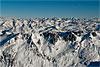 Foto 261: Schweizer Berggipfelmeer. Im Vordergrund das Gotthardmassiv. Blick gegen Osten..