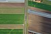 Foto 52: Ein Zug rollt durch die Felder des Grossen Mooses Richtung Kerzers FR.