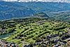 Foto 60: Crans Montana VS mit seinem Golfplatz.