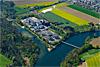 Foto 79: Die ARA an der Aare. Der Zweckverband der Abwasserregion Solothurn-Emme  ZASE, sorgt bei Zuchwil für sauberes Aarewasser.