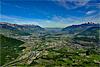 Foto 82: Das Rhonetal wo es am breitesten ist, kurz vor dem Genfersee bei Aigle.