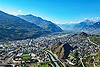 Foto 65: Sion bzw. Sitten ist der Hauptort des Kantons Wallis.