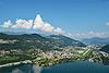 Foto 93: Agno TI am Lago di Lugano und sein Flugplatz.