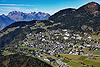 Foto 115: Leysin VD liegt auf einer Sonnenterasse auf 1260 m.ü.M. über dem Rhonetal.