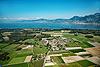 Foto 117: Zwischen Wiesen und Feldern am östlichen Ende des Genfersees liegt Noville VD.