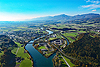 Foto 119: Verkehrs- und Wasserwege bei Wangen an der Aare.